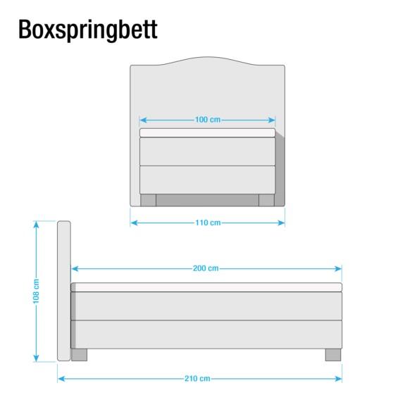 Bottna Bonellfederkernmatratze X Anthrazit 200cmH2 Boxspringbett 100 reBdCxo
