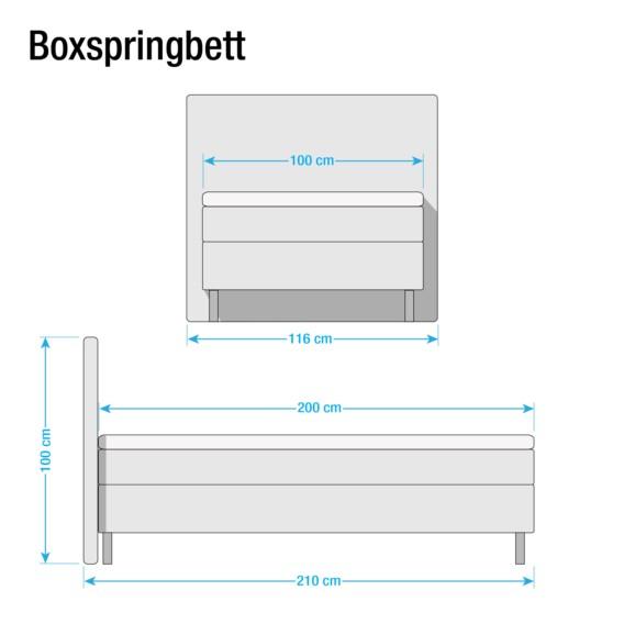 X Boxspringbett Bonellfederkernmatratze Cappuccino 100 Hedensted 200cmH2 eWdCrBxo
