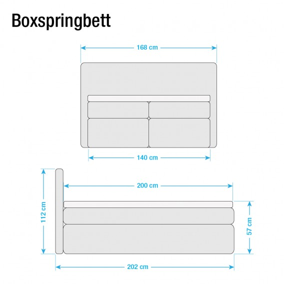 Mokka140 Boxspringbett X Ledmore Ledmore Boxspringbett 200cm W9IEDH2