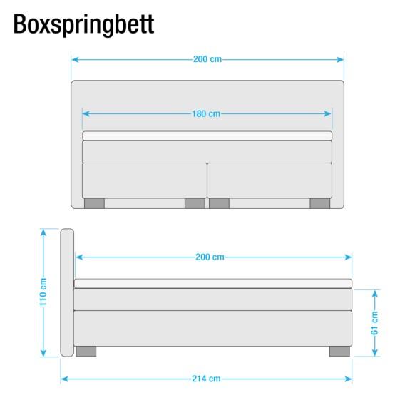 X Loimaa Boxspringbett 200cm Jeansblau140 Boxspringbett Loimaa 4L3R5Ajq