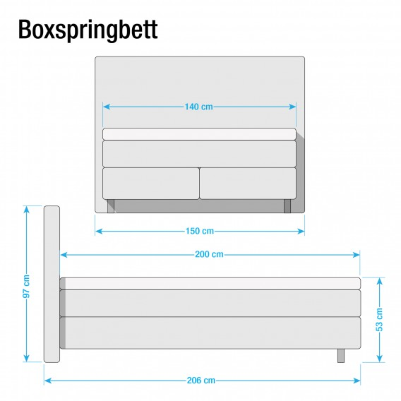 Weiß140 200cm Boxspringbett Vi X Ramona Kunstleder HeIbED29YW