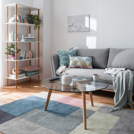 Salontafel Massief Eikenhout.Salontafel Forsby Glas Massief Eikenhout Home24 Be