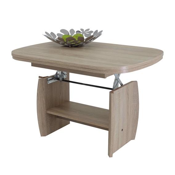 Table Basse Chene Sonoma.Table Basse Josi Extractible