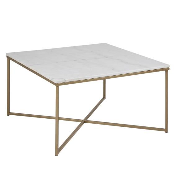 couchtisch mibu marmor metall home24. Black Bedroom Furniture Sets. Home Design Ideas