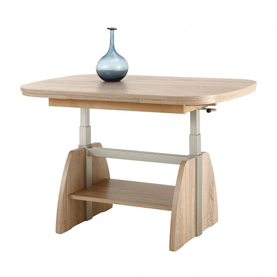 Table Basse Chene Sonoma.Table Basse Minot Avec Rallonges