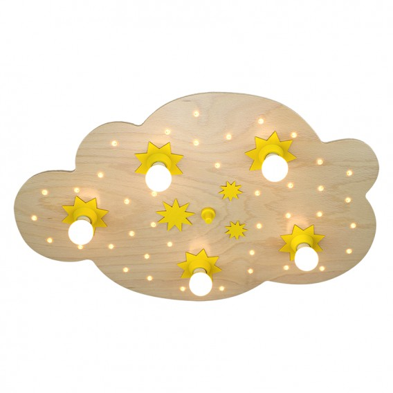 Deckenleuchte Sternenwolke Holz5 5 40 flammig 35jcALR4q