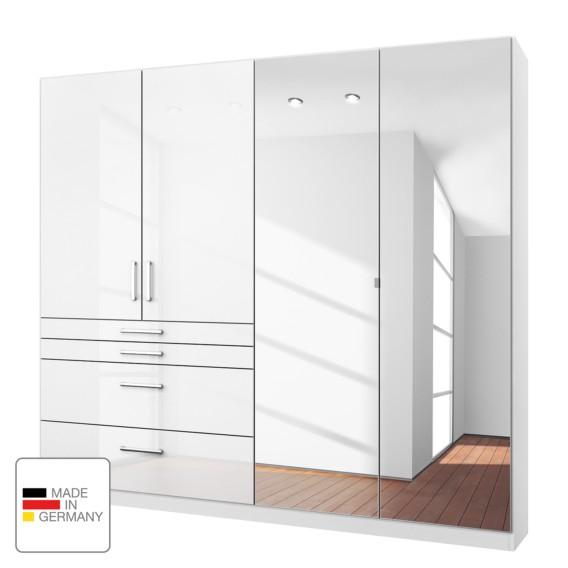 Homburg Drehtürenschrank Spiegeltüren Hochglanz Alpinweiß181 Mit I Cm mNwn80