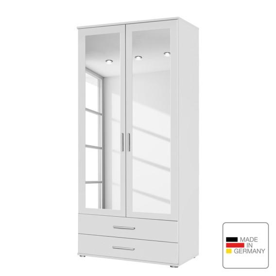 Drehtürenschrank Spiegeltüren Cm Rasant Alpinweiß85 2 5RL3jq4A