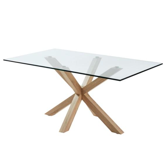 esstisch zuccarello v glas stahl home24. Black Bedroom Furniture Sets. Home Design Ideas