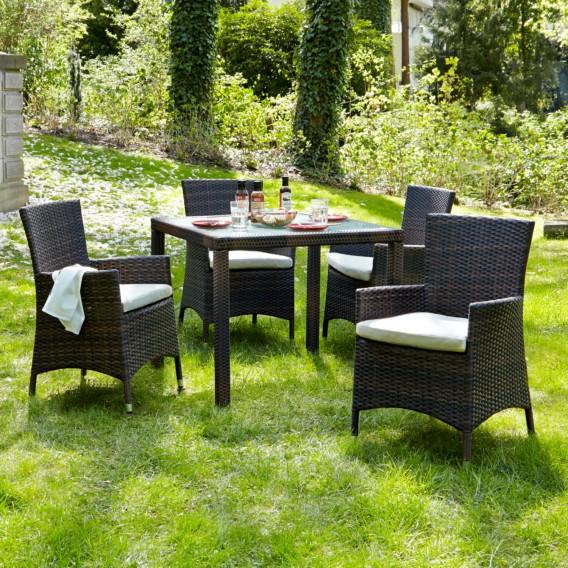 Lounge Meliert setPolyrattanBraun Gartenstuhl Paradise I2er rdCxeWBo