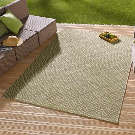 teppich Karo Cm X Lindgrün80 150 Inoutdoor yfgv7bY6