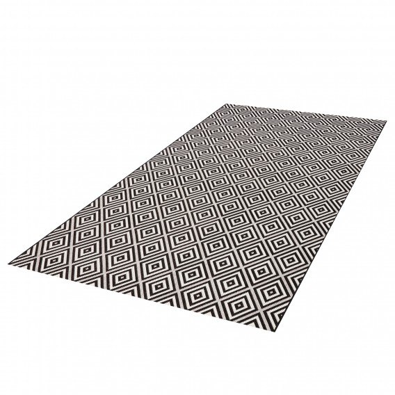 150 Karo teppich Inoutdoor SchwarzWeiß80 X Cm rCoeQdBxWE