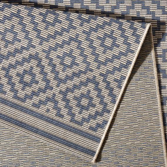 teppich Raute Inoutdoor X WeißDunkelblau80 Cm 150 FlKJc1