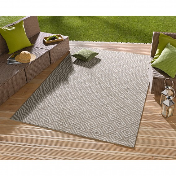 teppich Beige160 Inoutdoor X Karo Cm 230 f6Y7ybg