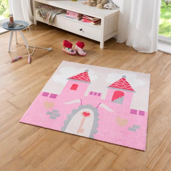 Kinderteppich Kinderteppich Prinzessinnenschloss KunstfaserRosa KunstfaserRosa Kinderteppich Prinzessinnenschloss Prinzessinnenschloss uK3lcTF1J5