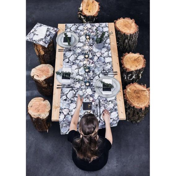 Pommerby BaumwollstoffSchneeweißBraun Tischläufer Tischläufer Pommerby Pommerby BaumwollstoffSchneeweißBraun Tischläufer gb7yvI6Yf