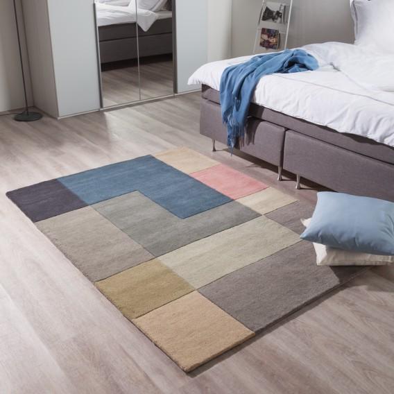 200 Cm Tiles WolleMehrfarbig Wollteppich X 140 0kZNnwO8PX