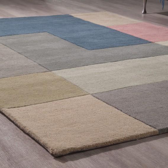 200 Wollteppich Cm Tiles 140 WolleMehrfarbig X SMpVGqUz