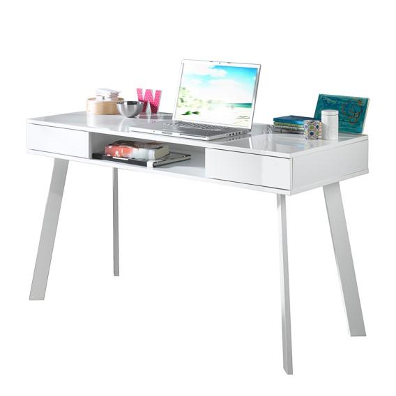 Table Pour Ordinateur Portable Tamale Blanc Brillant Home24 Be