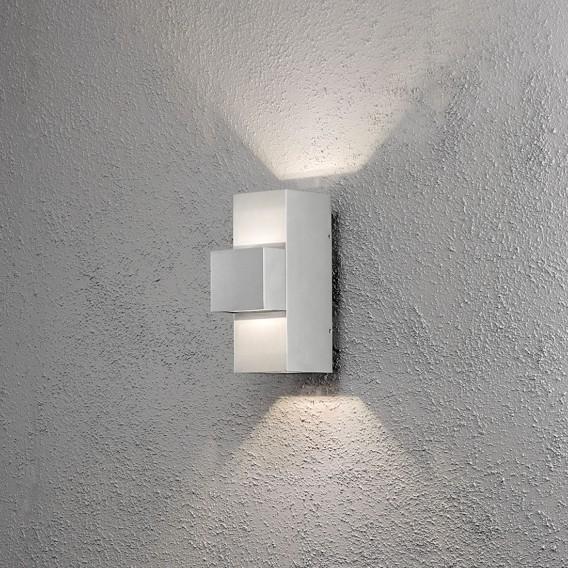 Wandleuchte flammig Iii kunststoff3 Aluminium Imola Led Style OwnyvmN80