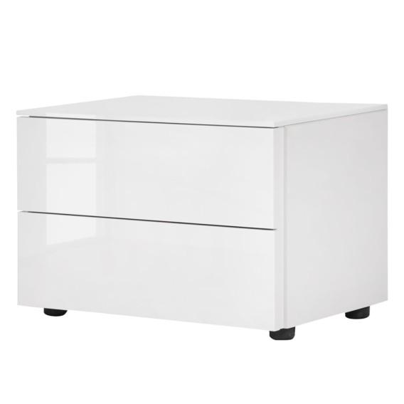 de II Blanc Bianco Table chevet brillant Ov0ym8nwPN