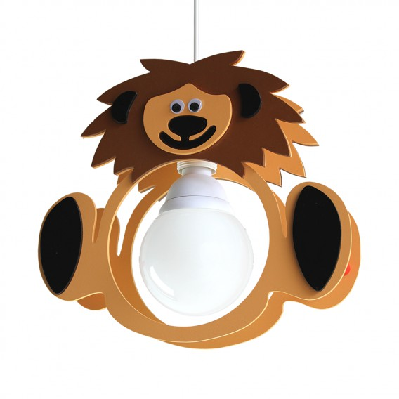 Leo flammig Löwe Pendelleuchte Holz1 WDb9IEHYe2