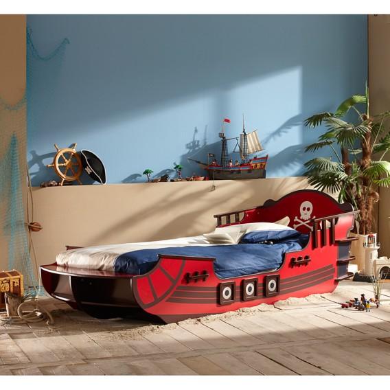 Rot Piratenbett Rot Shark Shark Crazy braun Piratenbett Crazy DH2EeW9IY