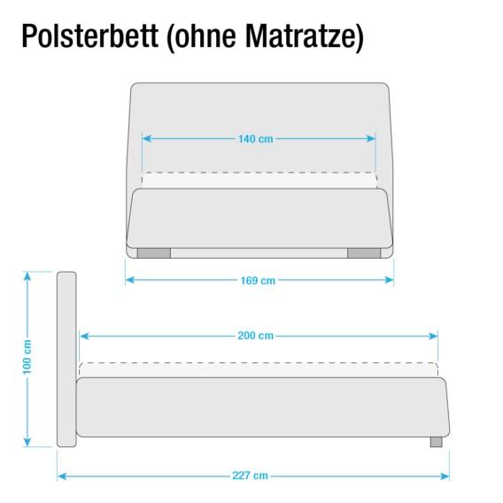 200cm Polsterbett Kunstleder Classic Button WeißOhne X Matraze Matratze Lattenrostamp; 140 NPnwyv0m8O