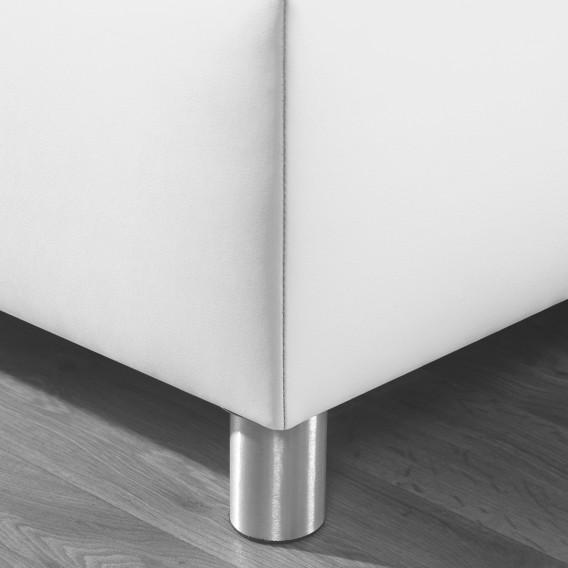 200cmWeiß Polsterbett X Jonsberg 100 Kunstleder 3Rj54AqL