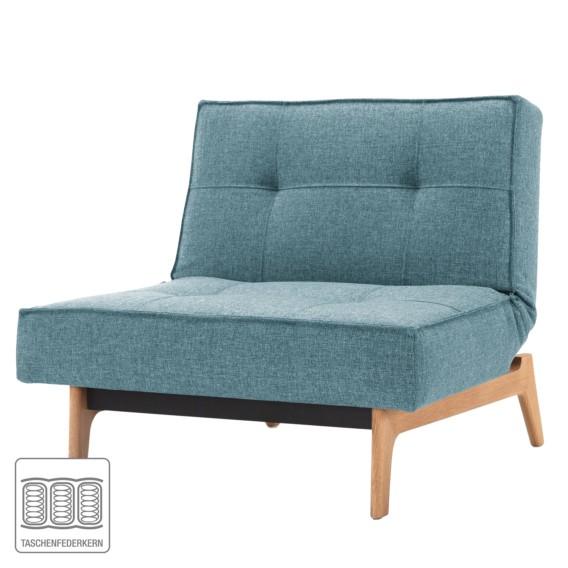 Stoff Splitback Eik Sessel Webstoff Mixed Blue DanceLight F1TlcKJ