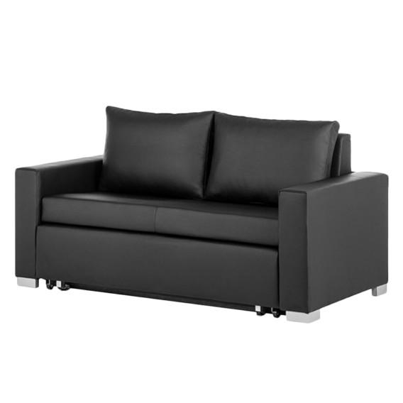 schlafsofa latina kunstleder schwarz home24. Black Bedroom Furniture Sets. Home Design Ideas