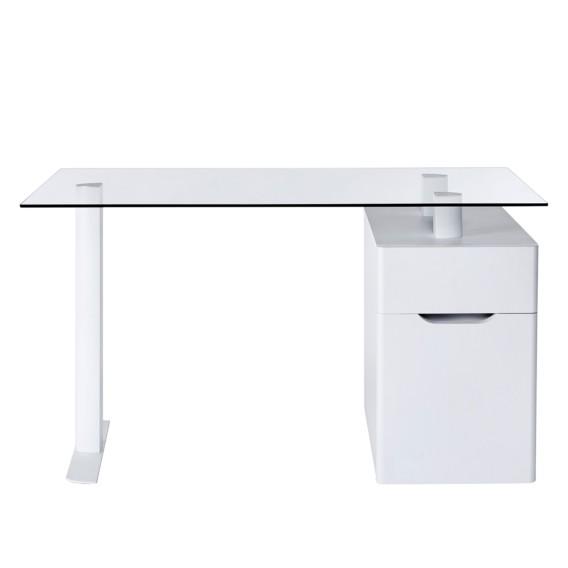 13 GlasStahlMatt Schreibtisch libre Cu Weiß I6gyfbY7v