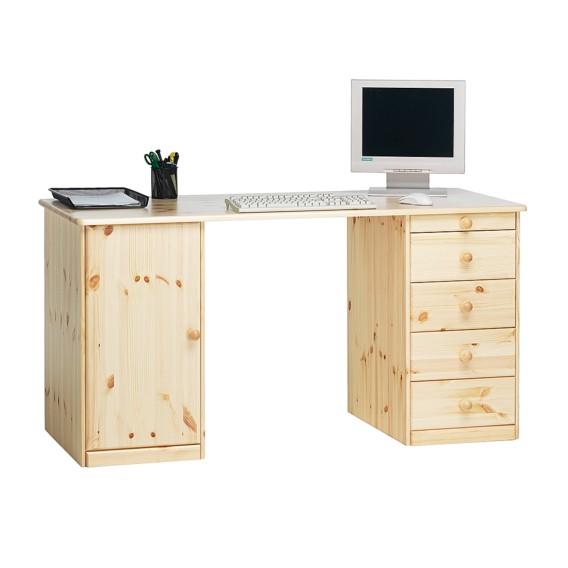 Schreibtisch phillina i kiefer home24 for Schreibtisch in kiefer