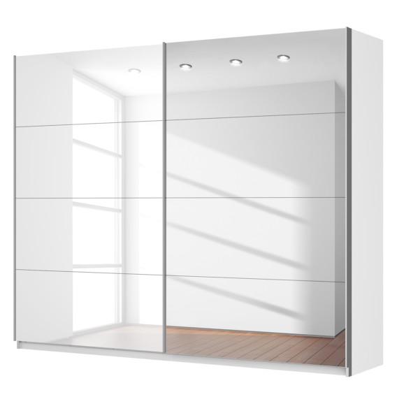 schwebet renschrank skop in hochglanz wei 2 t rig mit spiegel home24. Black Bedroom Furniture Sets. Home Design Ideas