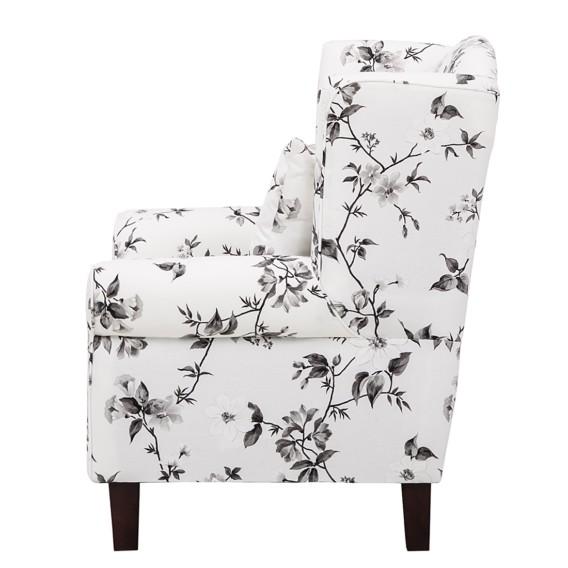 Weiß Hocker Sessel WebstoffBlume schwarz Colmar Mit pSUMzVGq