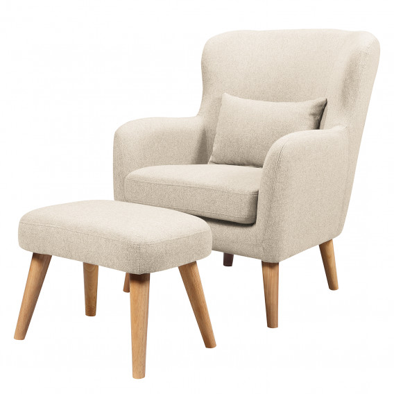sessel ribolt mit hocker webstoff webstoff home24