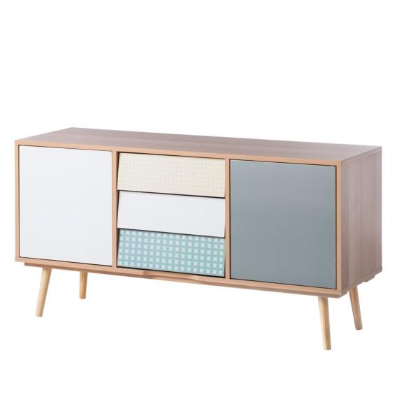 Wohndesign 24: Sideboard Milbrock I - Buche Teilmassiv
