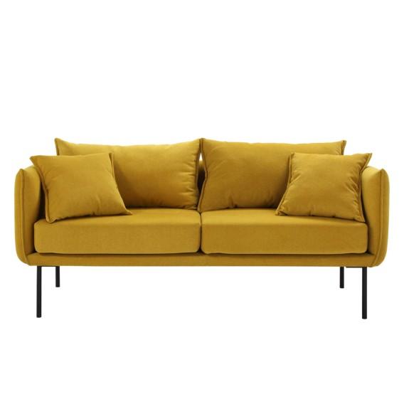 sofa bayboro webstoff 2 5 sitzer senfgelb home24. Black Bedroom Furniture Sets. Home Design Ideas