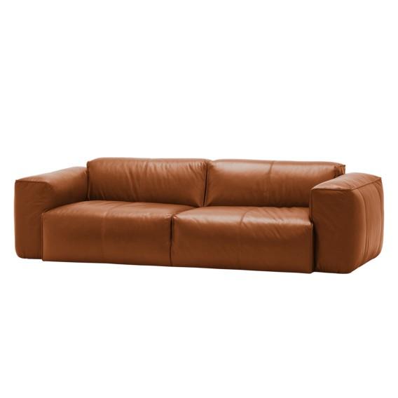 sofa hudson ii 3 sitzer echtleder fashion for home. Black Bedroom Furniture Sets. Home Design Ideas