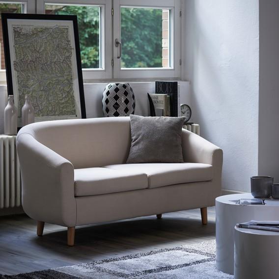 sofa little 2 sitzer stoff beige home24