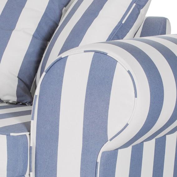 Sofa Colmar3 Blau Sofa Blau Gestreift sitzerWebstoff Gestreift sitzerWebstoff Sofa Colmar3 0P8OXknw