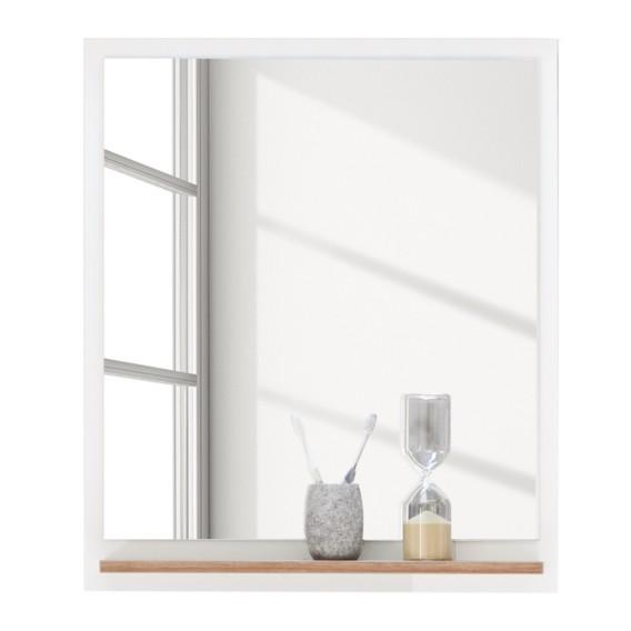 spiegel noventa i wit riviera eikenhouten look. Black Bedroom Furniture Sets. Home Design Ideas
