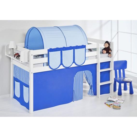 LilokidsMit Blau 90 190 X Spielbett Vorhang Weiß Jelle Hochbett Cm f7YgbyI6v