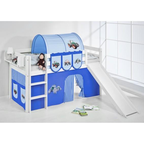 Hochbett Vorhang 190 Trecker Rutsche X LilokidsMit Und Cm Blau 90 Weiß Spielbett Jelle pUVSzM