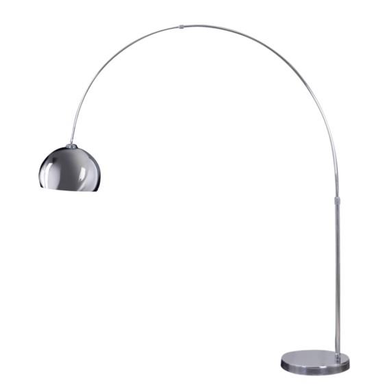 Elegante Innenlampe zum Aufstellen verchromte Tischleuchte Schirm verstellbar