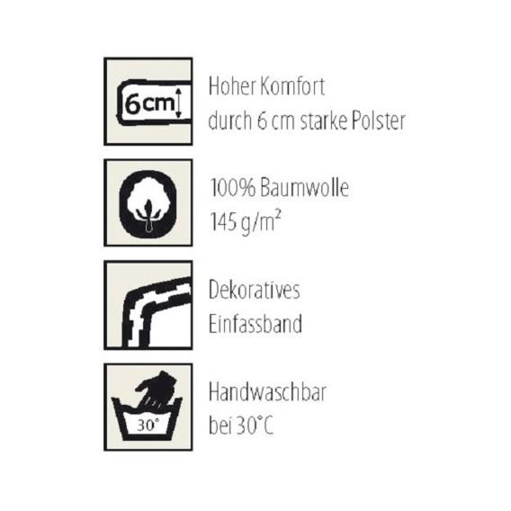 GestreiftHochlehner 50 Basic Auflage 120 Cm weiß Line X Blau eEIW2HDY9