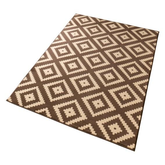 Teppich X SchokoladeBraun160 230 Cm Raute QBorCedxW
