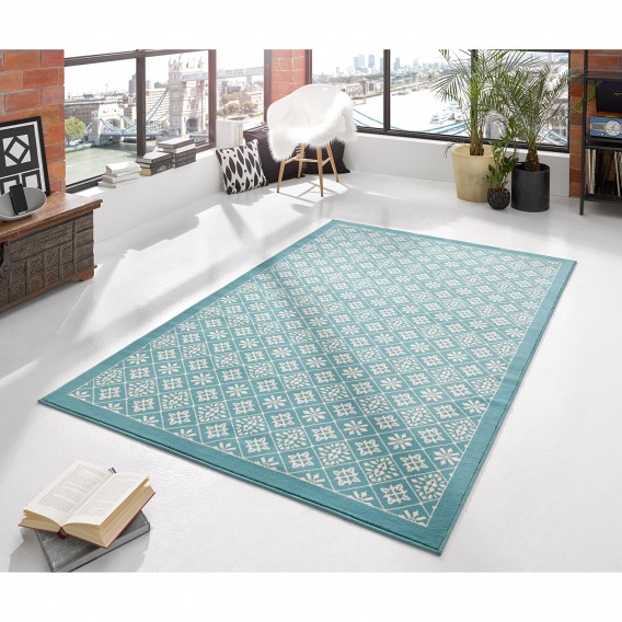 Teppich Cm 170 Tile X HellblauWeiß120 3F1lKTJc