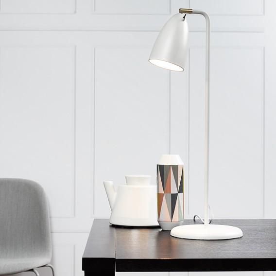 MetallKunststoffWeiß Tischleuchte flammig 1 10 Nexus PklZiTOuwX