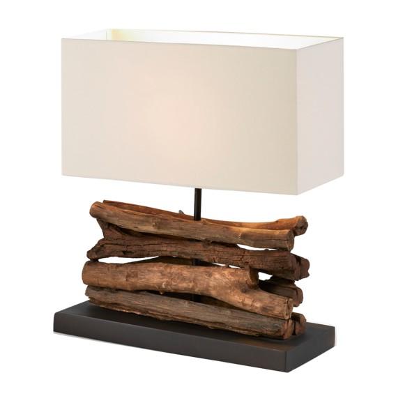 tischleuchte sahai by juli holz stoff home24. Black Bedroom Furniture Sets. Home Design Ideas